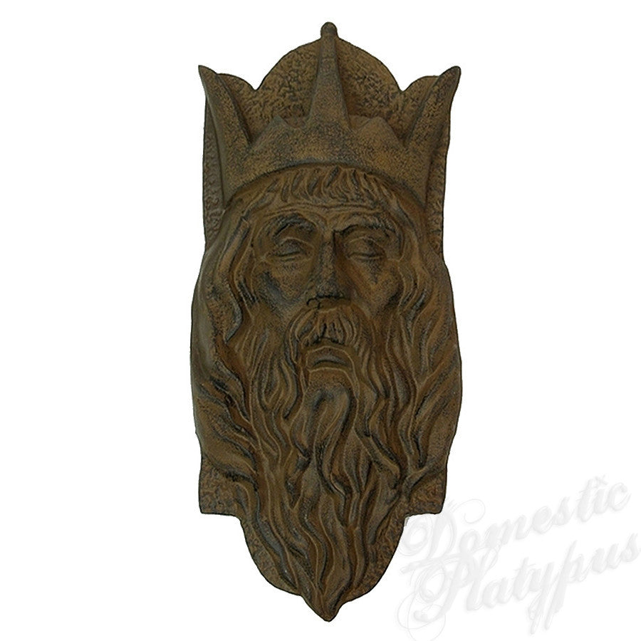 Garden Gods Cast Iron OLD WORLD KING Plaque - Domestic Platypus