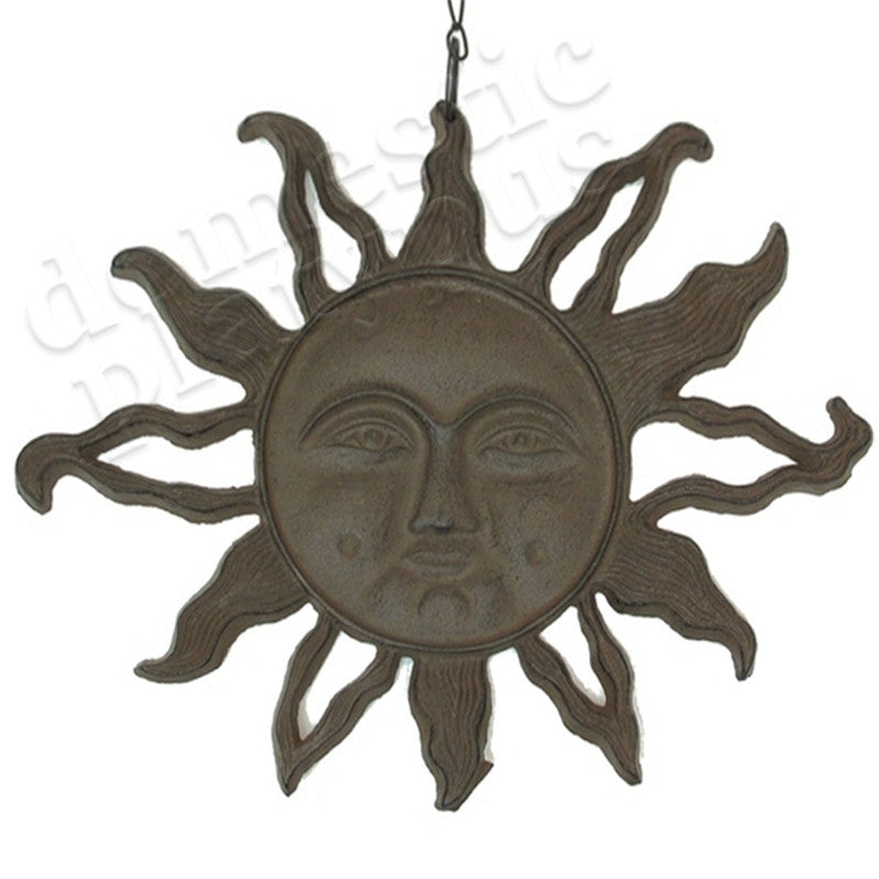 Garden Gods Cast Iron Sun Face Hanging - Domestic Platypus
