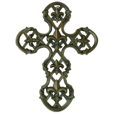 Cast Iron Fleur De Lis Cross - Domestic Platypus