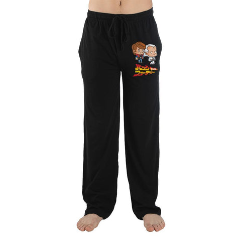 Domestic Platypus-Back to the Future Chibi and Kanji Lounge Pants, Anime Loungewear-Lounge Pants-[meta description]