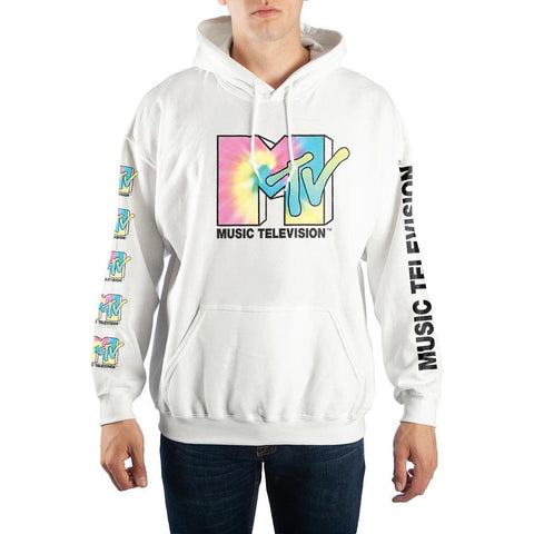 Domestic Platypus-MTV Retro Tie-Dye Logo Hoodie, Officially Licensed Classic 1980s 1990s-Hoodie-[meta description]