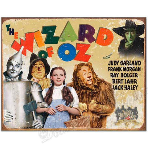 Wizard of Oz 70th Anniversary Movie Poster Tin Sign