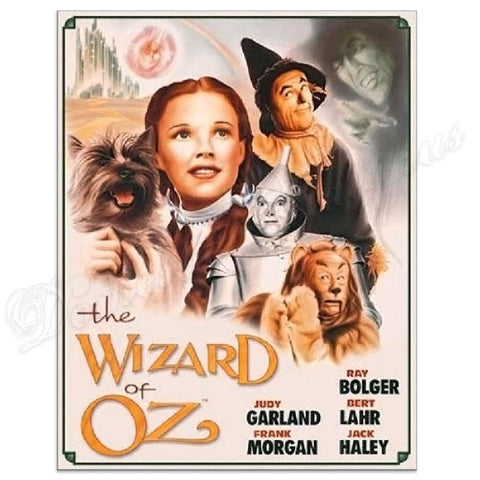 Wizard of Oz Illustrated Movie Poster Tin Sign