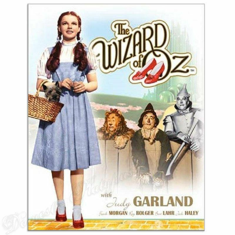WIZARD OF OZ Dorothy and Toto Movie Poster Tin Sign