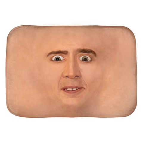 Creepy Cage Face Bath Mats
