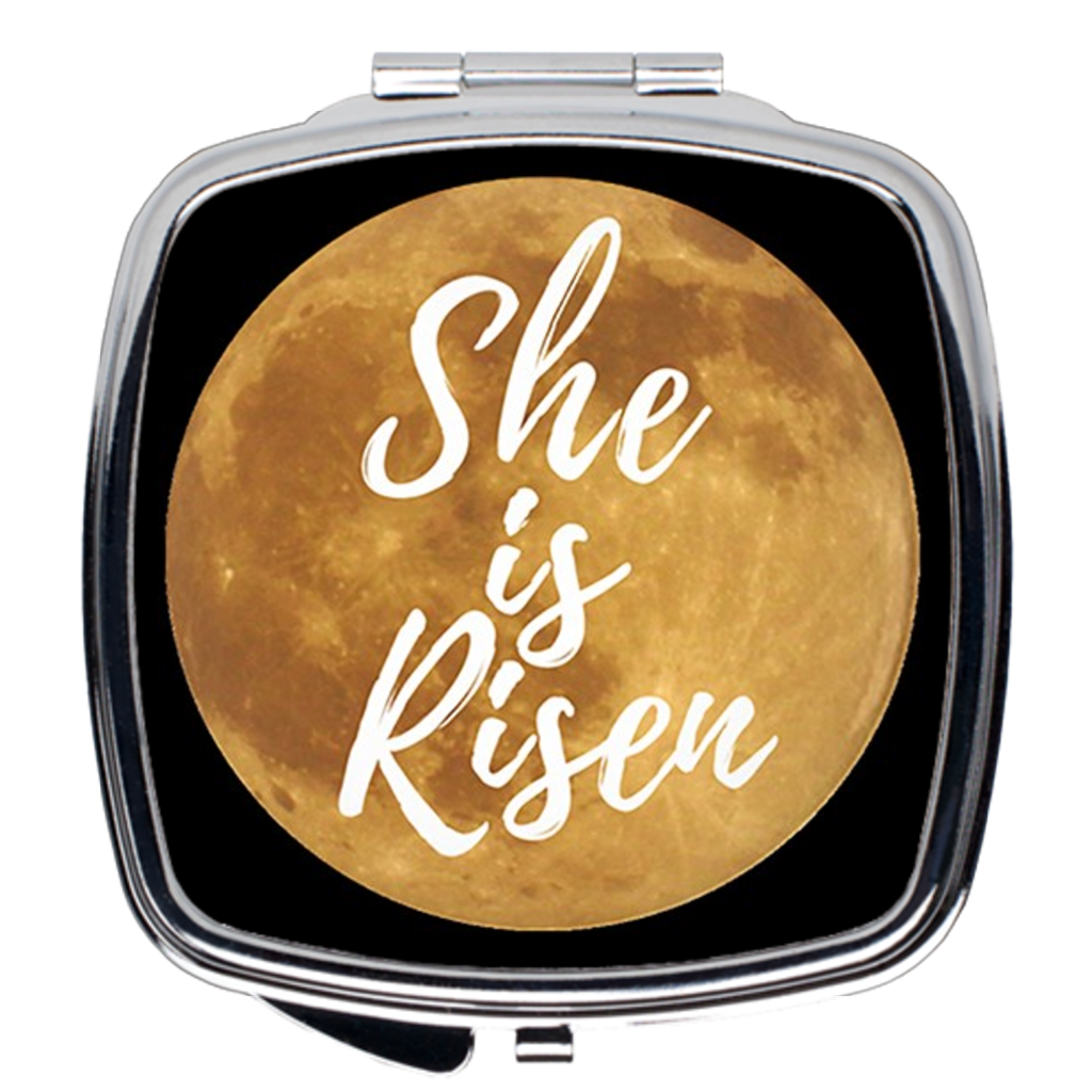 She Is Risen Compact Mirror