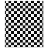 Black and White Checkered Minky Blanket