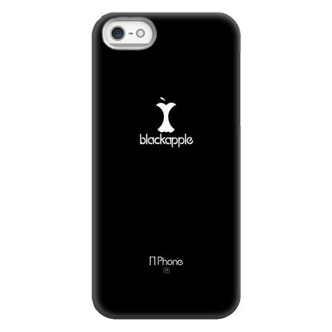 BlackApple Phone Case, White on Black