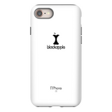 BlackApple Phone Case, Black on White