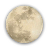 Full Moon Pinback Button