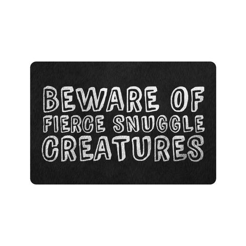 Domestic Platypus-Beware of Fierce Snuggle Creatures Doormat - Funny Pets Dogs Cats Mat-Doormat-[meta description]