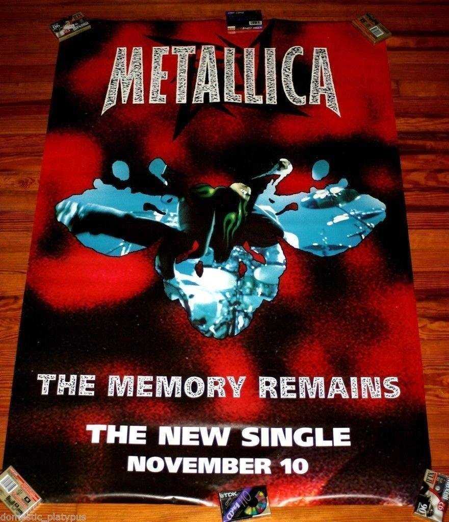 Metallica Rare 1997 The Memory Remains Subway Promo Poster