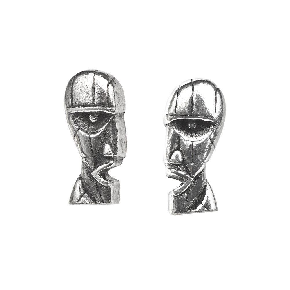 Pink Floyd Division Bell Stud Earrings, Alchemy Gothic