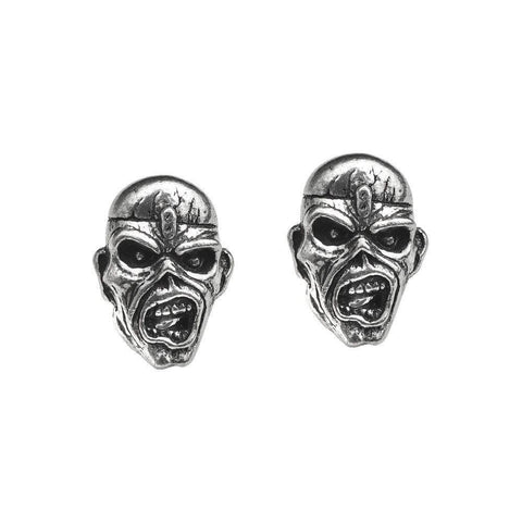 Iron Maiden Piece of Mind Eddie Stud Earrings, Alchemy Gothic