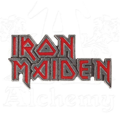 Iron Maiden Logo Pin, Alchemy Gothic
