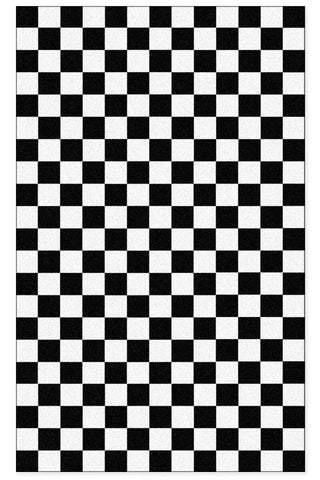 Domestic Platypus-Black and White Checkered Floor Mat / Hallway Runner, Fantasy Event-Floor Mat-[meta description]