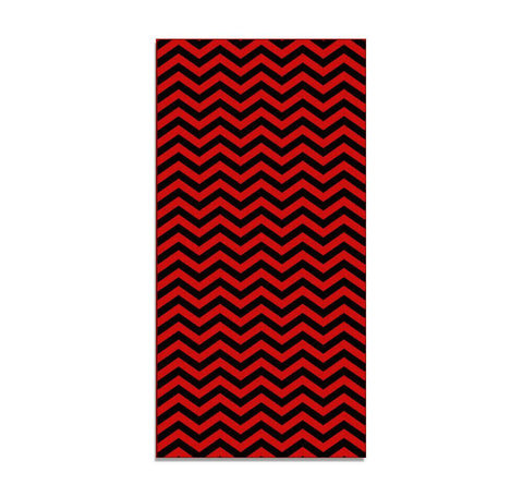Domestic Platypus-RED LODGE Chevron Floor Mat / Hall Runner, Peaks Twin ZigZag Pattern-Floor Mat-[meta description]