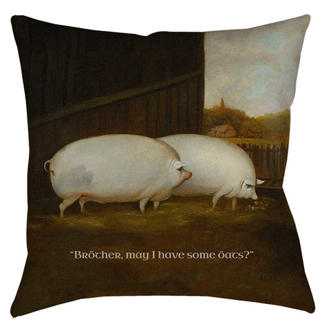 Brother May I Have Some Oats? Meme Throw Pillow