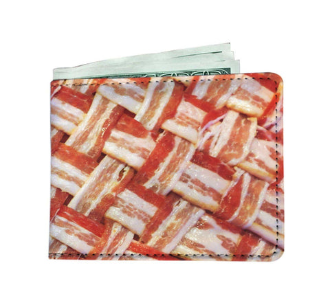 Domestic Platypus-Bacon Weave Wallet, Funny Faux Leather High Quality RFID Safe Billfold-Wallet-[meta description]