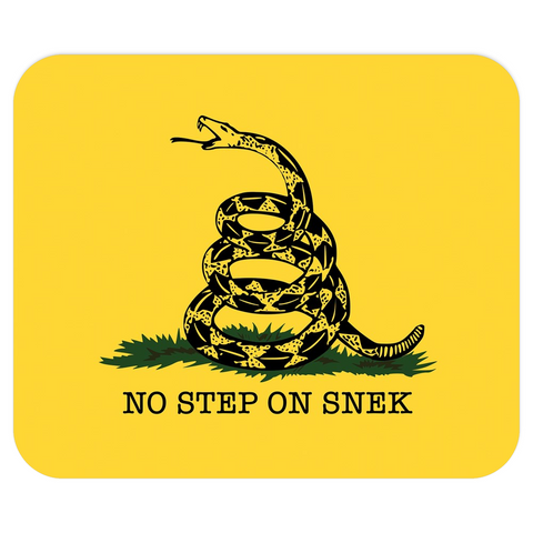 No Step on Snek Mousepad