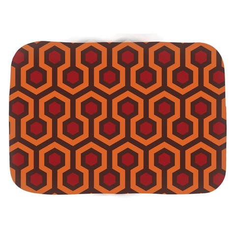Domestic Platypus-Overlook Horror Hotel Pattern Bathmats, Classic Hexagon Geometric -Bath Mat-[meta description]