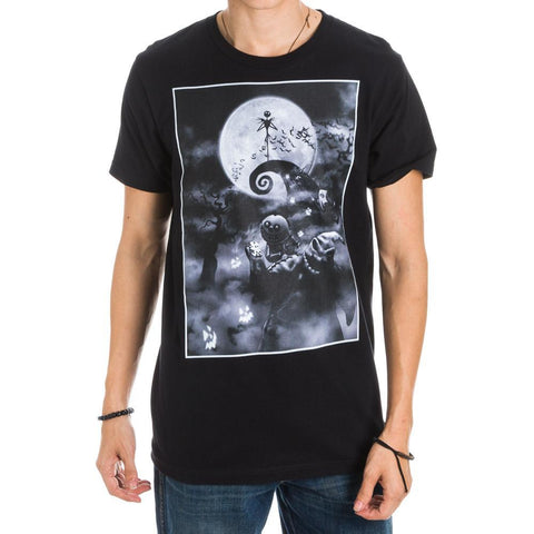 Domestic Platypus-Tim Burtons Nightmare Before Christmas Haunted Hilltop Graphic Tee NBX-Shirt-[meta description]