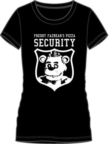 Five Nights At Freddys Freddy Fazbear's Pizza Security Women's Tee
