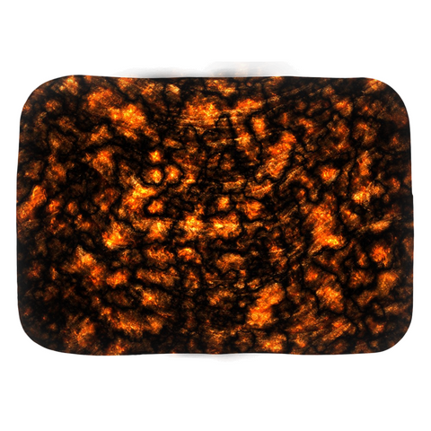 Domestic Platypus-Hot Lava Bathmats, Realistic Simulated Lava Pattern, Tropical Kitsch-Bath Mat-[meta description]