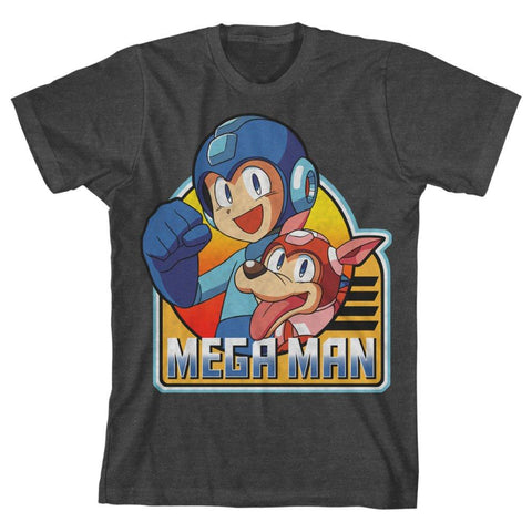 MEGAMAN Retro Mega and Rush Graphic Tee, Youth Sizes