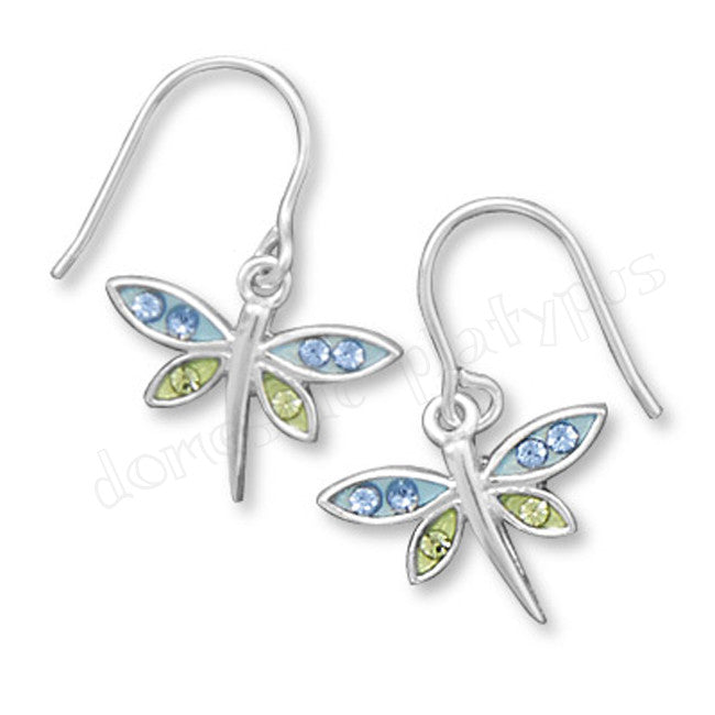Wildfire Blue & Green DRAGONFLY Earrings - Domestic Platypus