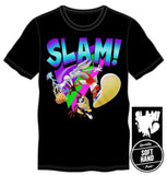 All Star Bugs Bunny Slam Over Tazmanian Devil Vertical Jump Gift Men's Black T-Shirt