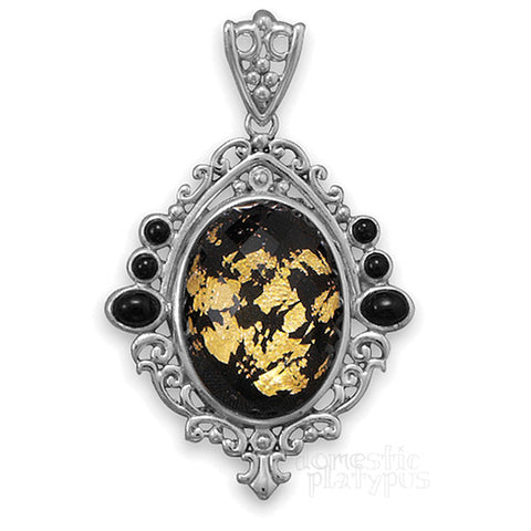 "Wildfire Silver ""Black Gold"" Pendant - Domestic Platypus"