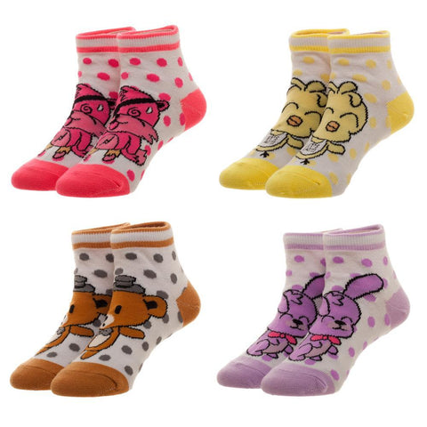 Five Nights At Freddy's Chibi Ankle Socks, 4 Pack