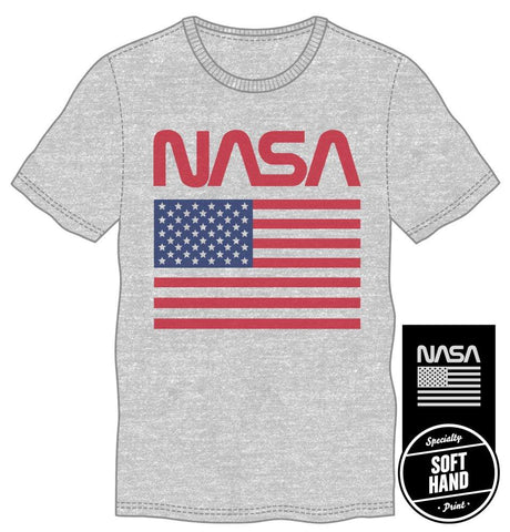 NASA Officially Licensed Retro American Flag Tee