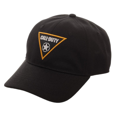 Domestic Platypus-Black CALL OF DUTY Woven WWII Patch Flex Cap, Officially Licensed-Hat-[meta description]