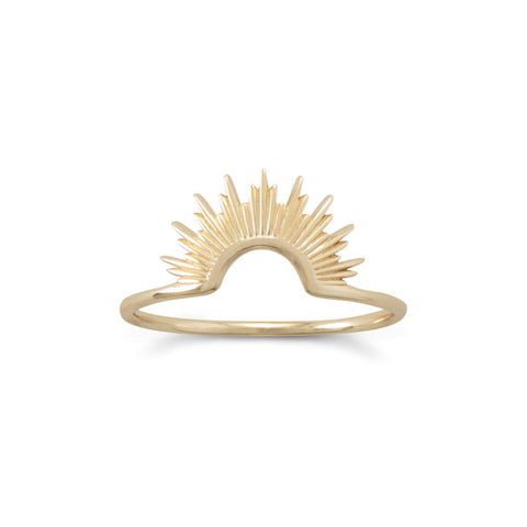 Sunburst Ring, 14k Gold Plated Sterling