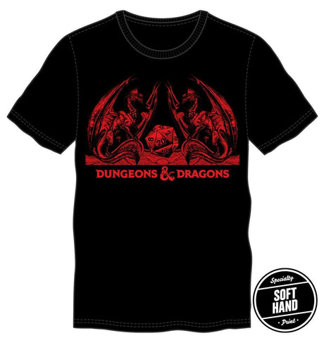 Domestic Platypus-Dungeons and Dragons Officially Licensed Red on Black Classic Logo Tee-Shirt-[meta description]