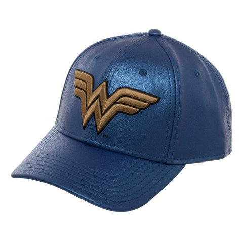 Wonder Woman Blue and Gold Glitter Cap