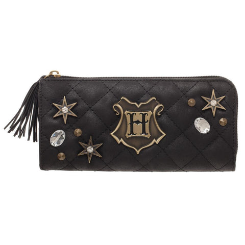 HARRY POTTER Quilted and Bejeweled Hogwarts Zipper Wallet