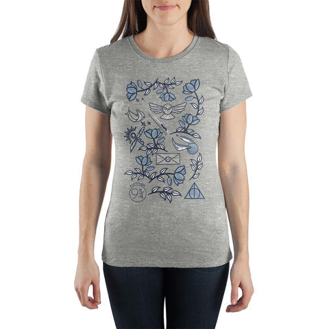 Harry Potter Holiday At Hogwarts Women?s Grey T-Shirt