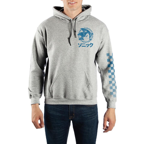 Domestic Platypus-SEGA Sonic The Hedgehog Classic Kanji Hoodie, Officially Licensed-Hoodie-[meta description]