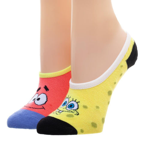 Spongebob and Patrick Juniors Liner Socks