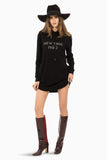 Domestic Platypus-New York 1980 Nina Hoodie Dress, Black, SIWY Denim - Made in the USA-Dress-[meta description]