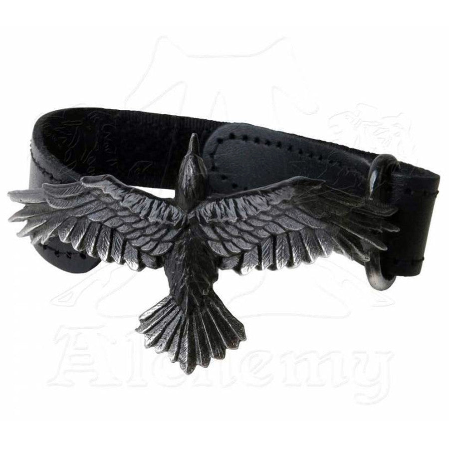 Alchemy Gothic BLACK CONSORT Leather Wriststrap - Domestic Platypus