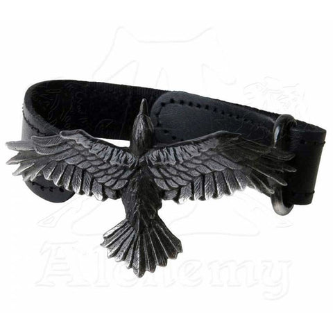 Alchemy Gothic BLACK CONSORT Leather Wriststrap