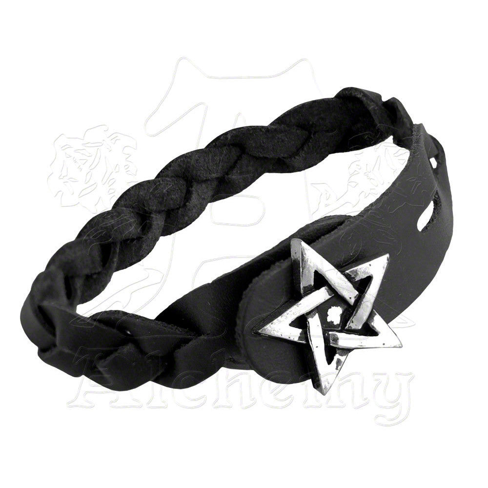 Alchemy Metal-Wear Pentagram Gaelic Plait Bracelet - Domestic Platypus