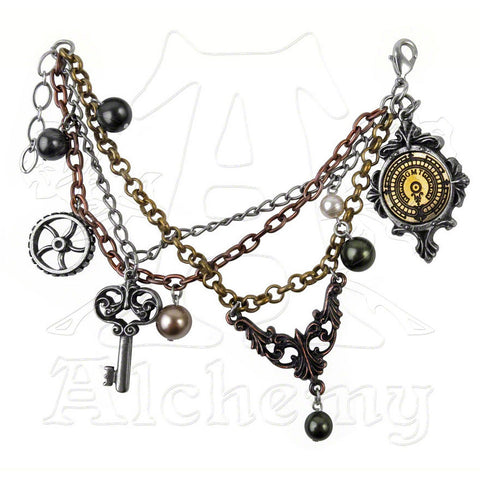 Alchemy Empire MRS. HUDSON'S CELLAR KEYS Charm Bracelet
