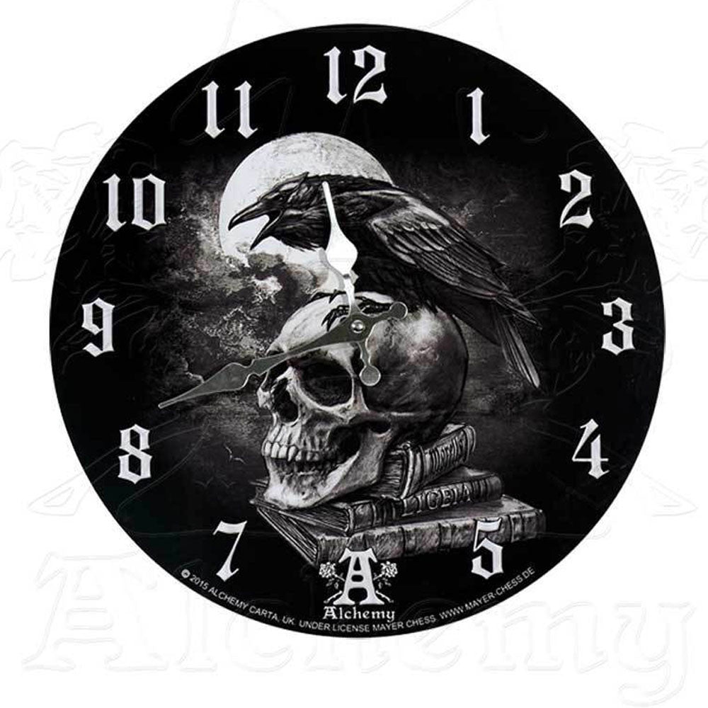 Alchemy Gothic POE'S RAVEN Wall Clock - Domestic Platypus