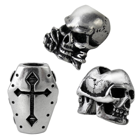 Alchemy Gothic HAIR / BEARD BEADS Set of Three - Domestic Platypus