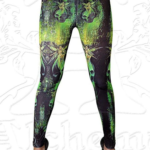 "Alchemy ""Absinthe Fairies"" Leggings - Domestic Platypus"